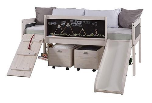 Jose Whitewash Twin Hideout Jr Loft Bed
