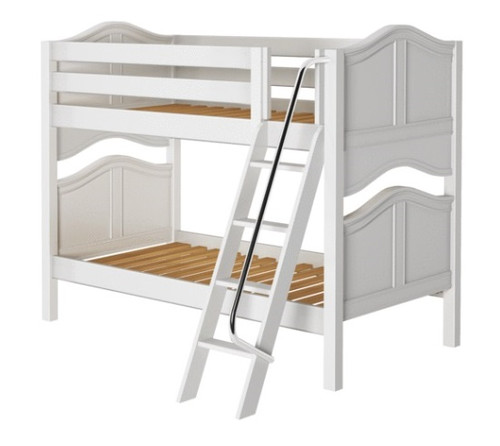 Mariah White Bunk Beds for Girls twin