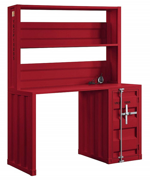 Shipping Container Red Metal Desk