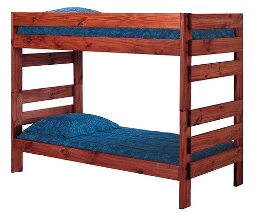 Jericho Mahogany Wooden Bunk Beds twin over twin