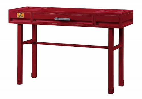 Shipping Container Red Metal Vanity Desk