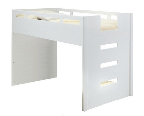 Nadia White Mid High Twin Size Loft Bed
