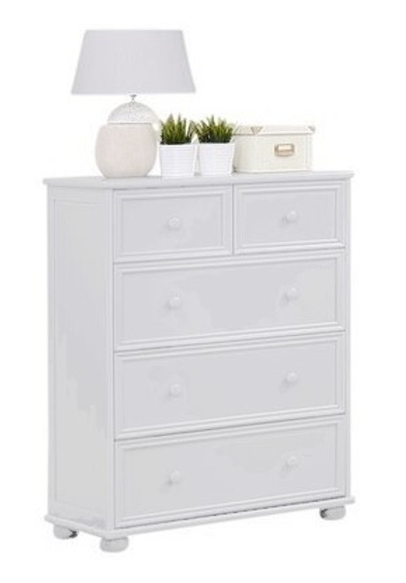 Beatrice White Chest of Drawers