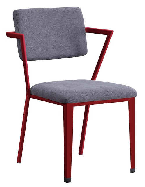 Shipping Container Red Metal Desk Chair
