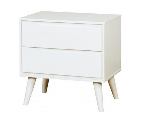 Cadelle White 2 Drawer Nightstand