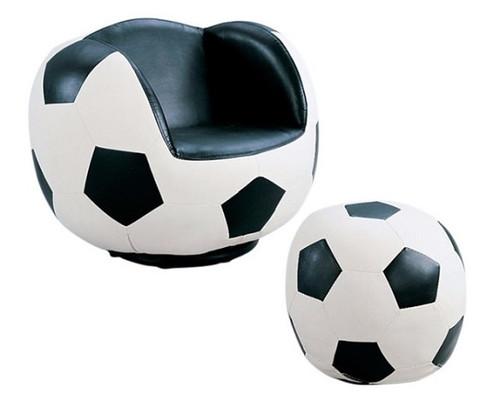 Soccer Ball Swivel Chair and Ottoman