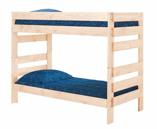 Jericho Unfinished Wooden Bunk Beds twin over twin