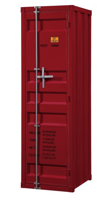 Shipping Container Red Metal Wardrobe