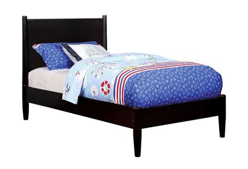 Decker Black Platform Bed twin size