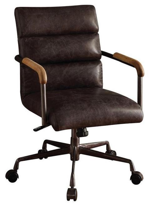 Antonio Leather Executive Office Chair Malted Ebony