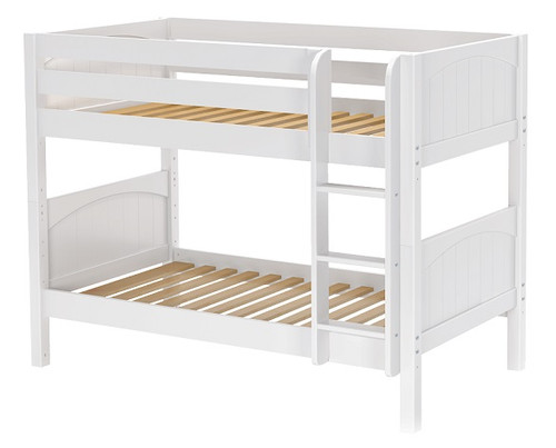 Southern Shores White Low Bunk Beds twin over twin