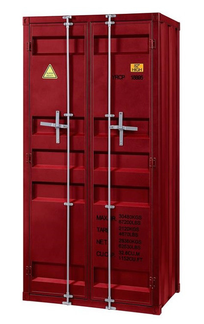 Shipping Container Red Metal Storage Cabinet