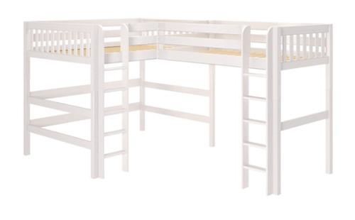 Sloane White Queen Twin XL L Shaped Loft Bed