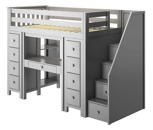 Almere Gray Twin Loft Beds for Kids