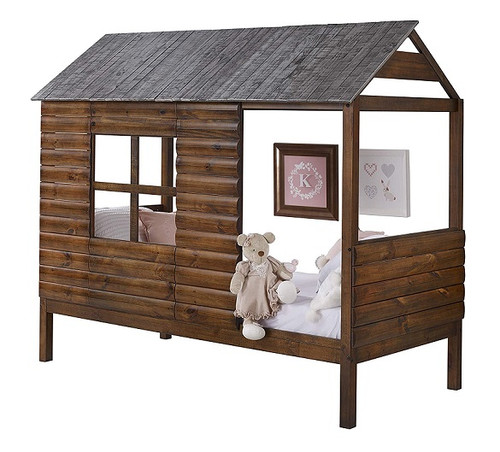Wilder's Twin Size Log Cabin Bed