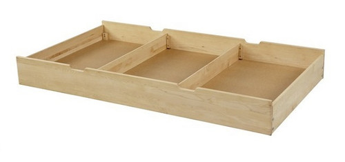 Lingo Natural Twin Storage Trundle with dividers in
