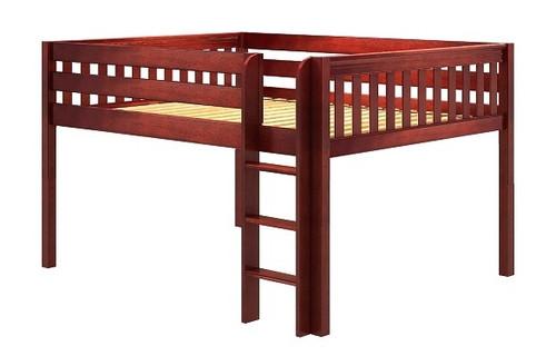Theo Chestnut Low Queen Loft Bed Frame