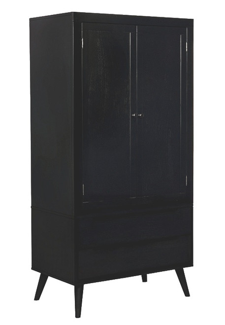 Decker Black Clothing Armoire
