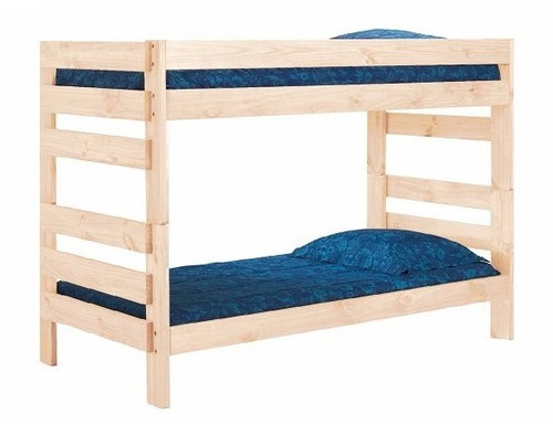 Jericho Unfinished Extra Long Wooden Bunk Beds twin xl size