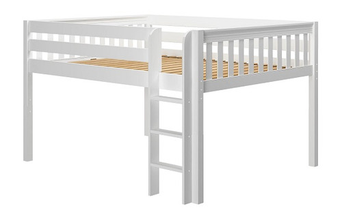 Lily White Low Queen Loft Bed Frame
