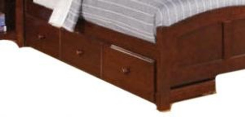 Simmons Underbed Storage Drawers Brown Cherry