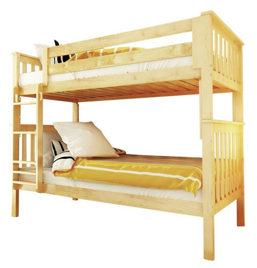 Delaney Natural Bunk Beds twin over twin