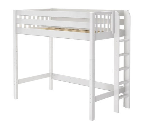 Stella White Ultra High XL Twin Loft Bed for Adults