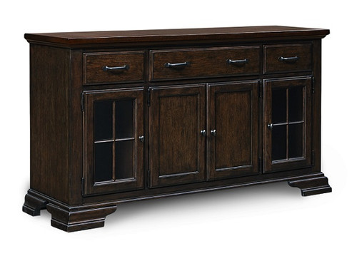 Kingsley Distressed Mocha Sideboard Cabinet