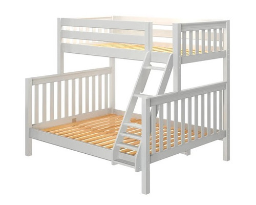 Lily White Twin over Queen Bunk Bed No Mattresses