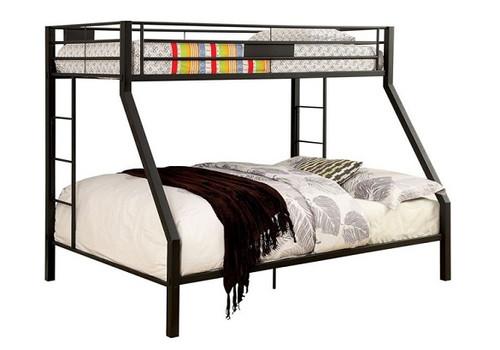 Axcel Black Metal Bunk Bed twin over queen