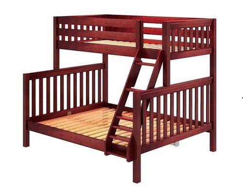 Theo Chestnut Twin over Queen Bunk Bed No Mattresses