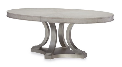 Alvoranda Brushed Gray Oval Dining Table