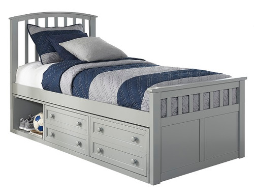 Barrett Gray Captains Bed twin size