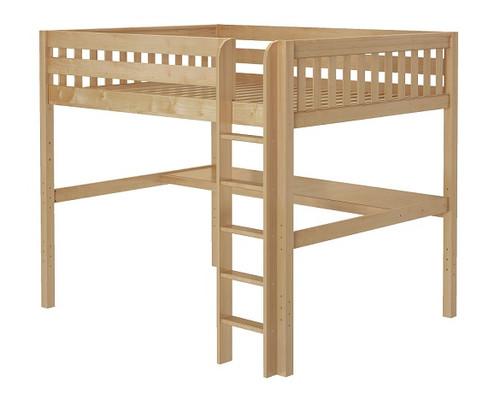 Bennett Natural Queen Loft Bed with Desk