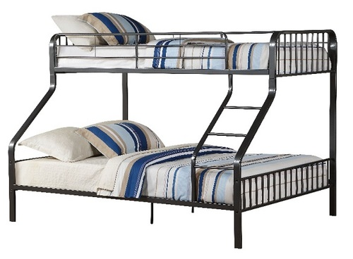 Weaver Gunmetal Twin over Queen Bunk Bed