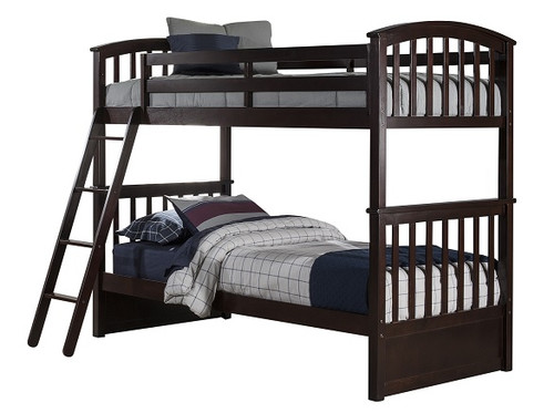 Dolan Arch Chocolate Twin over Twin Bunk Beds