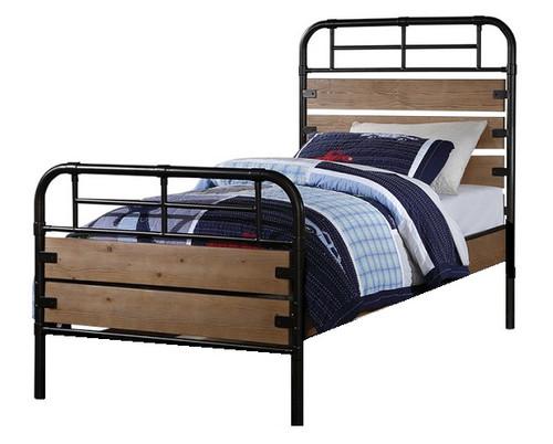 Ryder Antique Oak Twin Size Bed