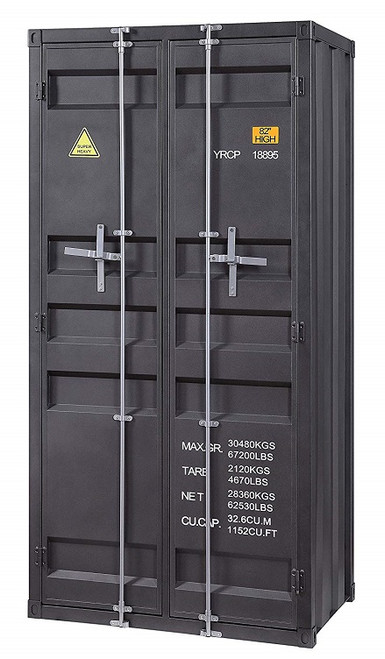 Shipping Container Gray Metal Storage Cabinet