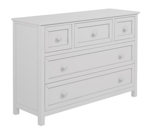 Charlotte White 5 Drawer Dresser