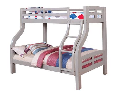 Dunbar Gray Twin over Full Bunk Bed