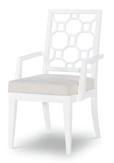 Antoinette Set of 2 White Dining Chairs with Arms