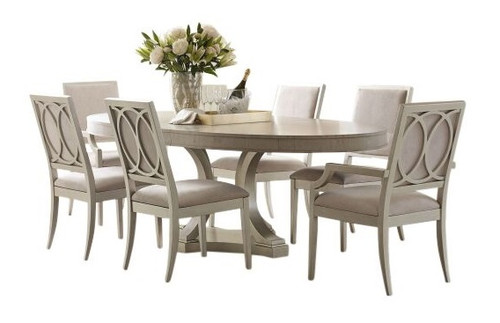 Alvoranda Brushed Gray 7 Piece Dining Set