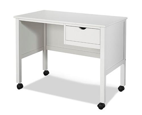 Charlotte White 1 Drawer Study Desk