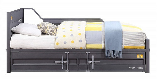 Shipping Container Twin Size Gray Metal Daybed