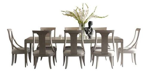 Alvoranda Brushed Gray Extendable Dining Table Set