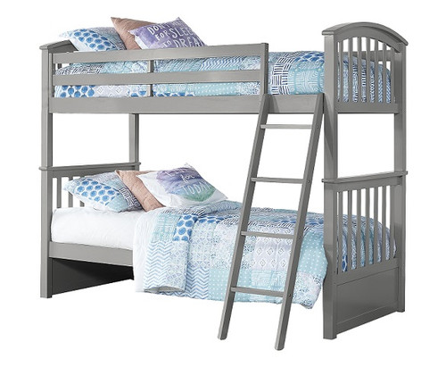 Barrett Arch Gray Twin over Twin Bunk Beds