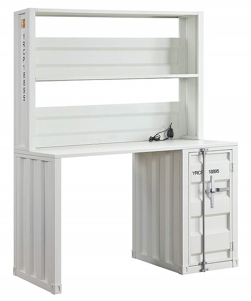 Shipping Container White Metal Desk