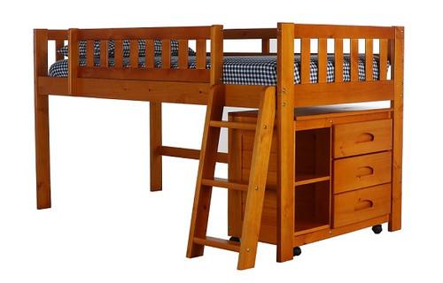 Ravenswood Honey Junior Loft Bed with storage