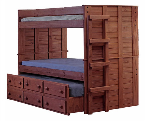 Haverhill Mahogany Bunk Bed with Trundle twin size
