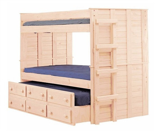 Haverhill Unfinished Bunk Bed with Trundle twin size